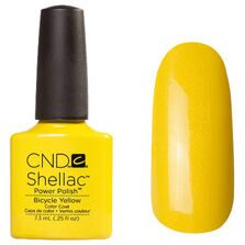 Shellac CND (шеллак) bicycle yellow 7,5 мл.