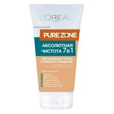 LOREAL DERMO-EXPERTISE PURE ZONE скраб для лица 7 в 1 150мл