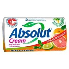 Absolut CREAM Мыло туалетное Грейпфрут и бергамот 90 гр.