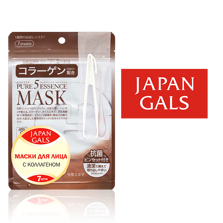 JAPAN GALS Pure5 Essence Маска с коллагеном 7 шт